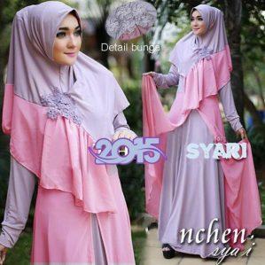 Nchen Syari Ungu Pink