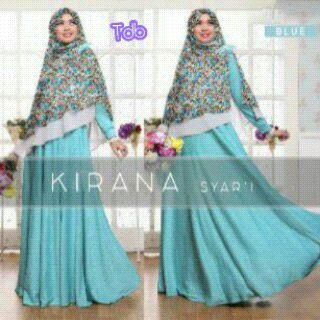 Kirana Biru Busana Muslim