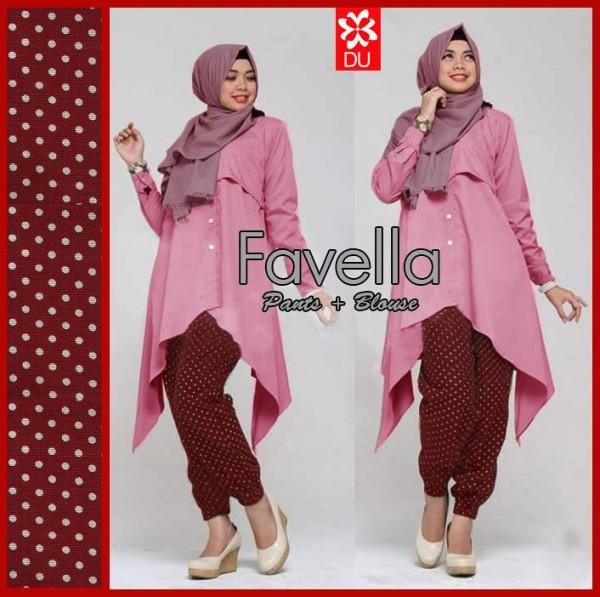 Favella Pink Set Baju Muslim