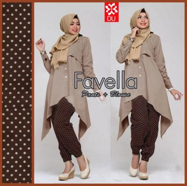 Favella Coklat Baju Muslim Terbaru