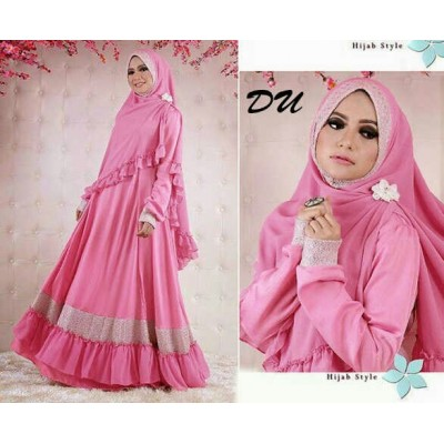Hasanah Pink Baju Syar'i
