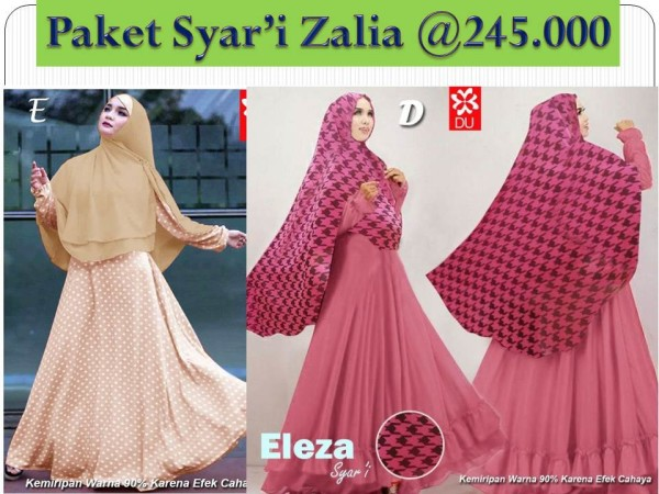 Paket Zalia Syar'i
