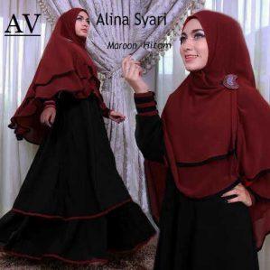 ALINA SYARI HITAM MARUN