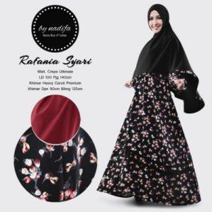 New Rafania Syari Hitam Premium