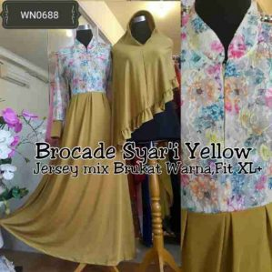 Brocade Syari Yellow