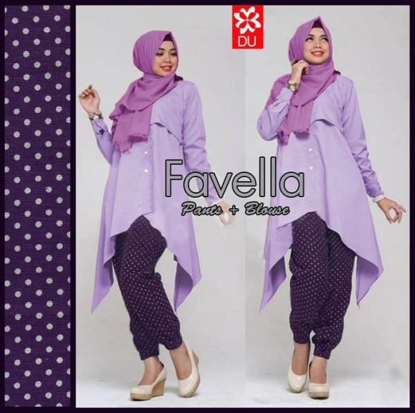 Favella Ungu Baju Muslim Terbaru
