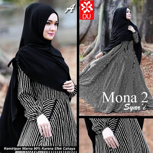 MOna HItam Syar'i