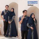 Baju Muslim Couple Alifa Navy
