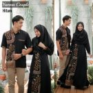 Baju Muslim Yumna Batik Couple Hitam