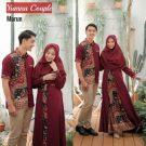 Baju Muslim Yumna Batik Couple Maroon